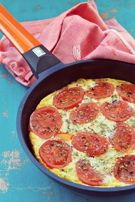 Frittata de pimientos y tomates