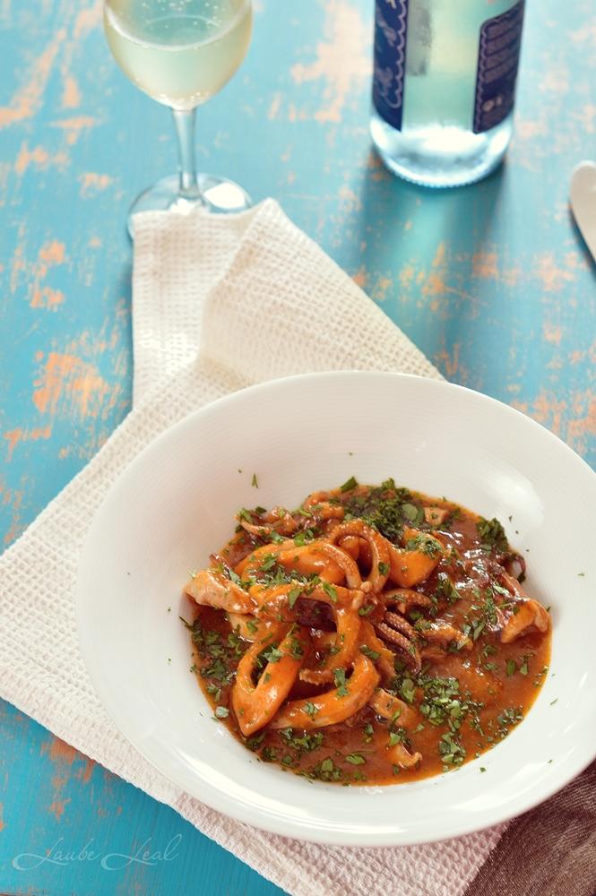 Calamares en salsa americana