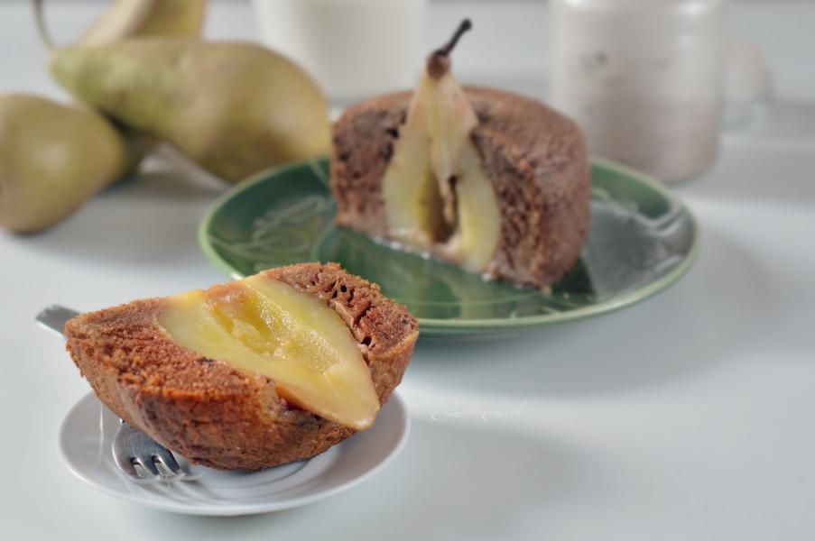 Bizcocho de pera y chocolate