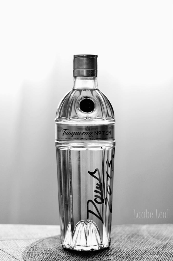 Botella a contraluz