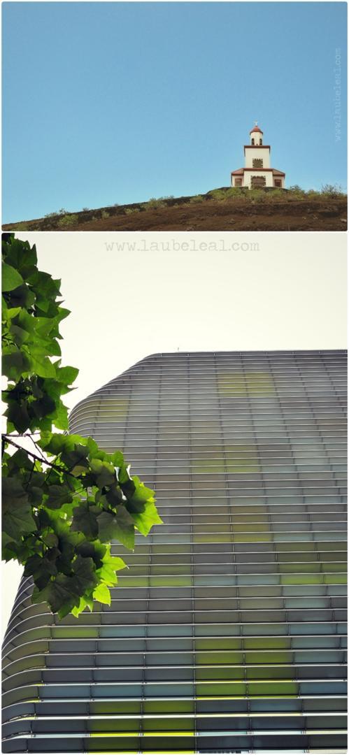 Arquitectura en ángulo contrapicado