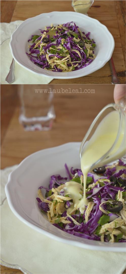Ensalada crujiente con salsa de camamil·la de Menorca